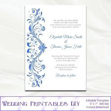 blue wedding invitations wedding printable invitations royal wedding invitation template