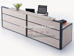 Oak Reception Desk China Factory Supply Office Melamine Reception Desk Counter Double