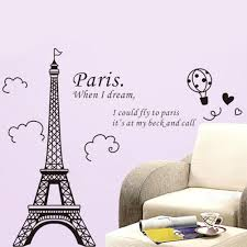 1 x eiffel tower diy removable art vinyl wall sticker decor mural