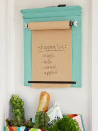 how to make a wall mounted shopping list kraft paper chair rail