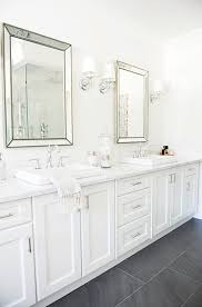 Restoration Hardware Bathroom Mirrors Beveled Beaded Mirrors Transitional Bathroom Tracey Ayton