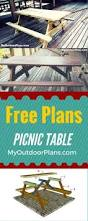 Plans For Wooden Picnic Tables by Diy Building Plans For A Picnic Table Backyard Ideas Pinterest