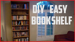 how to build a bookshelf diy project youtube