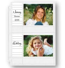 Photo Album Pages 4x6 Double Weight 4x6 Memo Photo Pocket Pages With Id Labels Exposures