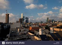 scape of tel aviv downtown israel stock photo royalty free image