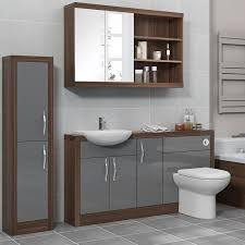 lucido 1500 fitted bathroom furniture pack grey jax diamond