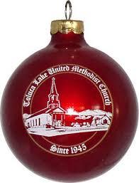 united methodist church custom glass ornament