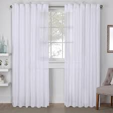 White Tab Top Curtains Winter White Tab Top Window Curtain Eh8276 01 2 96h