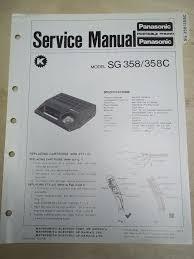panasonic service manual sg 358 c record player original u2022 8 98
