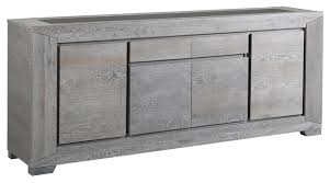 Sideboards And Buffets Contemporary Titan Gray Solid French Oak Sideboard Contemporary Buffets And