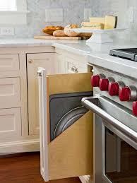 Narrow Spice Cabinet Organize With This Pull Out Storage Solutions Cutting Board