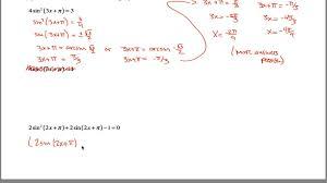 Sin Cos Tan Worksheet Inverse Trig Worksheet Part 2 Youtube