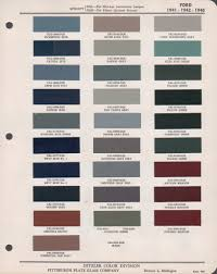 ford model a color chart the thomas berry colby page of davis