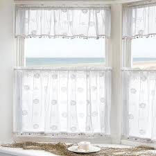 sand shell tier and valance with seashell trim heritage lace