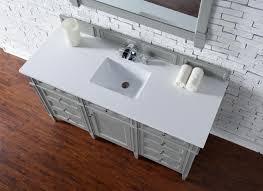 Single Vanity Bathroom Contemporary 60 Inch Single Bathroom Vanity Gray Finish No Top