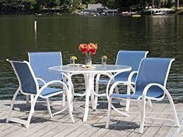amazon com telescope casual aruba ii sling dining set outdoor
