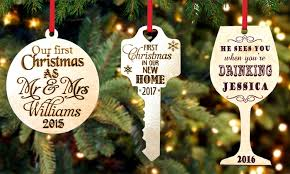 personalised ornament groupon goods