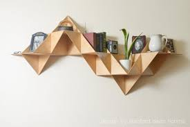 Modern Wall Mounted Shelves Danish Modern Inspired Modular Triangular Birch Wood Wall