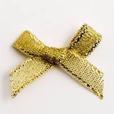 metallic gold ribbon 20 metallic gold lurex ribbon bows 3cm with self adhesive tab at