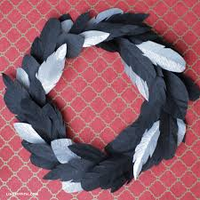 turkey feather wreath crepe paper feather wreath lia griffith