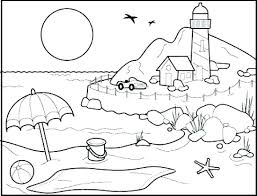 coloring pages for landscapes beach for coloring beach coloring beach coloring pages landscapes