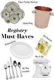 only wedding registry wedding registry must haves kelsey farese