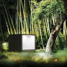 garden bollard light contemporary aluminum led kube simes
