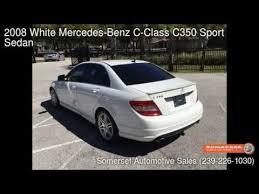 2008 mercedes c class c350 2008 white mercedes c class c350 sport sedan fort myers fl