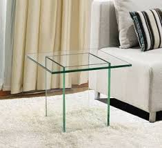 Glass End Tables Viva Modern Glaze End Table Tables Glass Living Room With Regard
