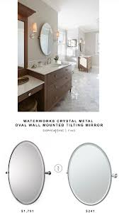 Tilt Bathroom Mirror Gatco Tiara Oval Tilting Bathroom Mirror Copycatchic