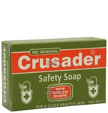 lade germicida crusander mediacted safety soap package sealed by crusader