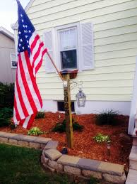 Flag Pole Lights Solar Powered Memorial Day Project Address Display Post 4x4 Deck Post Solar