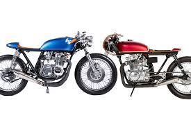 honda cb monnom u0027s red vs blue honda cb 350 550 cafe racer nation