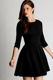black skater dress sleeve black skater dress naf dresses