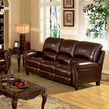 burgundy leather power reclining sofa low melt fiber wrapped over