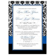 royal blue wedding invitations photo template wedding invitation royal blue white black