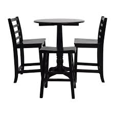 Dining Room Sets Nj by 61 Off Glass Top Dining Table And Leather Chairs Tables