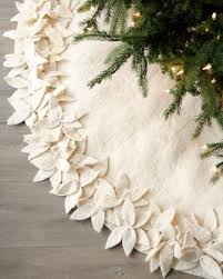 design white tree skirts poinsettia skirt and