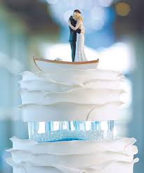 Unique Wedding Cake Toppers Unique Wedding Cake Topper Couple In Row Boat