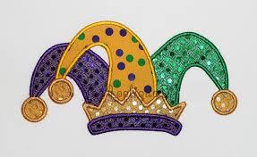 mardi gras jester ribbon dog mardi gras jester hat embroidery design machine applique