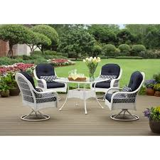 White Patio Furniture Sets Better Homes And Gardens Azalea Ridge 5 Patio Dining Set