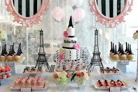 parisian baby shower theme babyshower ideas baby shower