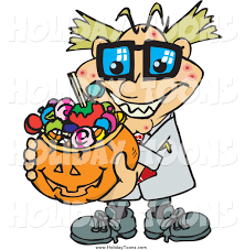 halloween basket royalty free holiday cartoon of amad scientist holding a halloween