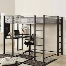 Shop Furniture Of America Sherman SilverGun Metal Full Study Loft - Full loft bunk beds