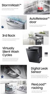 Dishwasher With Heating Element Samsung Stormwash Top Control Dishwasher In Stainless Steel With