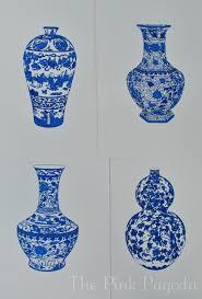 Chinese Vases History Blue And White Chinese Vase 3 13x19 Giclee 45 00 Via Etsy
