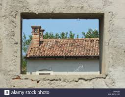 window framing window framing a abandon farm house stock photo royalty free