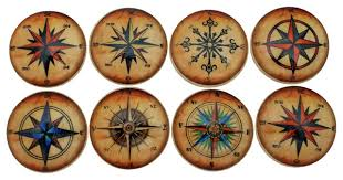Beach Themed Cabinet Knobs by Star Compass Rose Cabinet Knobs 8 Piece Set Beach Style
