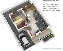 Duplex Home Design Plans 3d Floor Plan For Independent House India