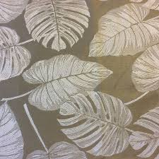 champagne italy 152 fg tropical leaves damask nature upholstery